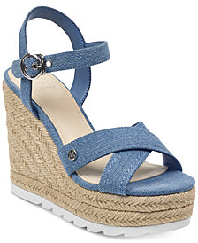 GUESS Women's Genisi Espadrille Wedge Sandals