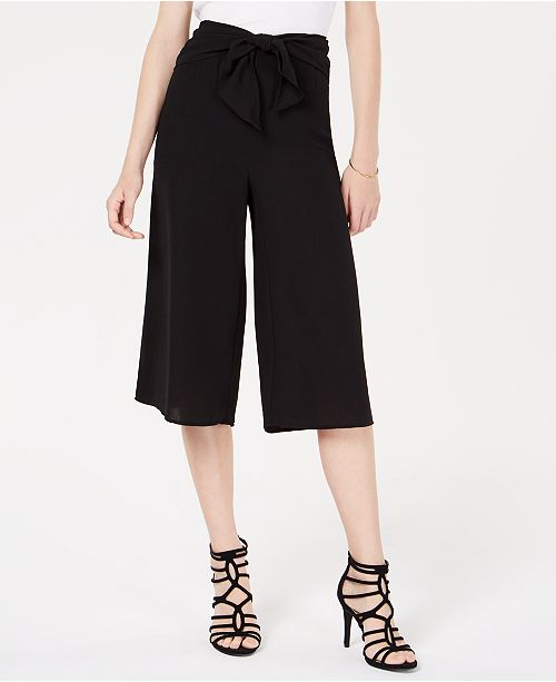 Material Girl Juniors' Tie-Front Gaucho Pants, Created for Macy's
