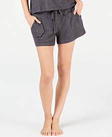 Alfani Ribbed Hacci Sweater-Knit Pajama Shorts, Created for Macy's