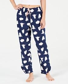 Jenni by Jennifer Moore Printed Cotton Pajama Pants, Created for Macy's
