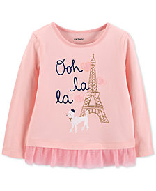 Carter's Toddler Girls Oh La La Graphic Top