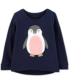Carter's Toddler Girls Penguin Graphic Top