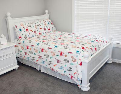Larry Llama Flannel Fleece 2 Piece Twin Comforter Set