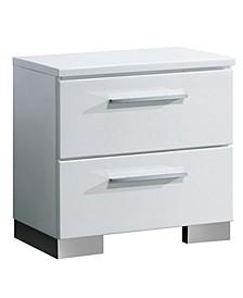 Angie 2-drawer Gloss Nightstand