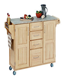 Home Styles Create-a-Cart Natural Finish Salt and Pepper Granite Top