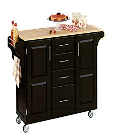 Home Styles Create-a-Cart Black Finish with Wood Top