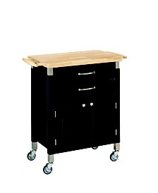 Home Styles Dolly Madison Black Kitchen Cart
