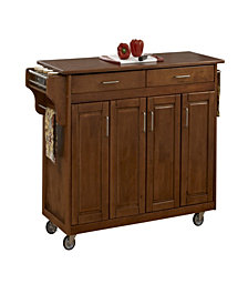 Home Styles Create-a-Cart Cottage Oak Finish Black Granite Top