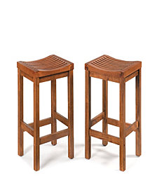 Home Styles 24 inch Cottage Oak Bar Stool