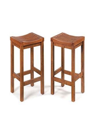 Home Styles 24 Inch Cottage Oak Bar Stool Furniture Macys