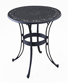 "Home Styles Biscayne Black 42"" Round Outdoor Dining Table"
