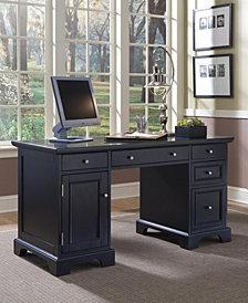 Home Styles Bedford Black Pedestal Desk