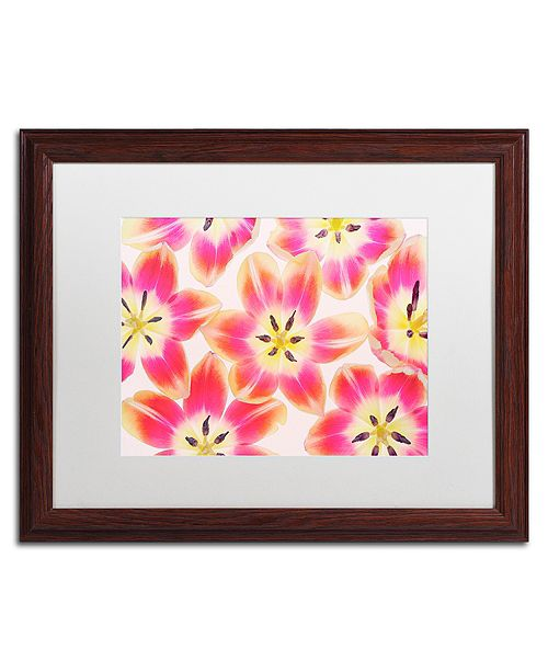 """Trademark Global Cora Niele 'Yellow and Red Tulips' Matted Framed Art, 16"""" x 20"""""""