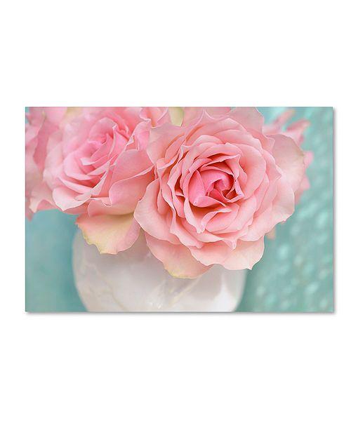 "Trademark Global Cora Niele 'Pink Rose Bouquet' Canvas Art, 12"" x 19"""