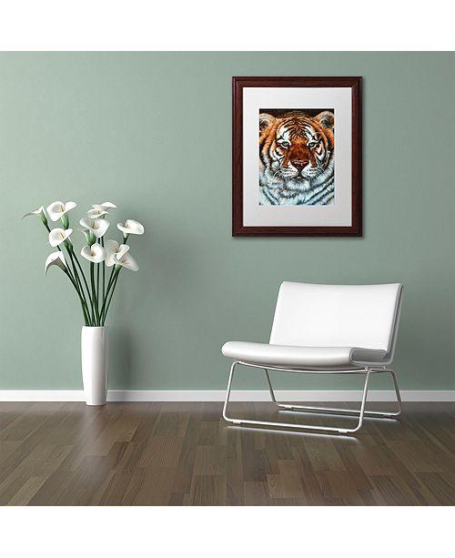 "Trademark Global Jenny Newland 'Awesome Beauty' Matted Framed Art, 11"" x 14"""