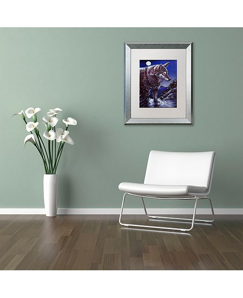 """Trademark Global Jenny Newland 'Lonely One' Matted Framed Art, 11"""" x 14"""""""