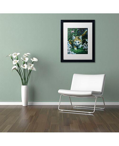 """Trademark Global Jenny Newland 'Buttercup 2' Matted Framed Art, 16"""" x 20"""""""