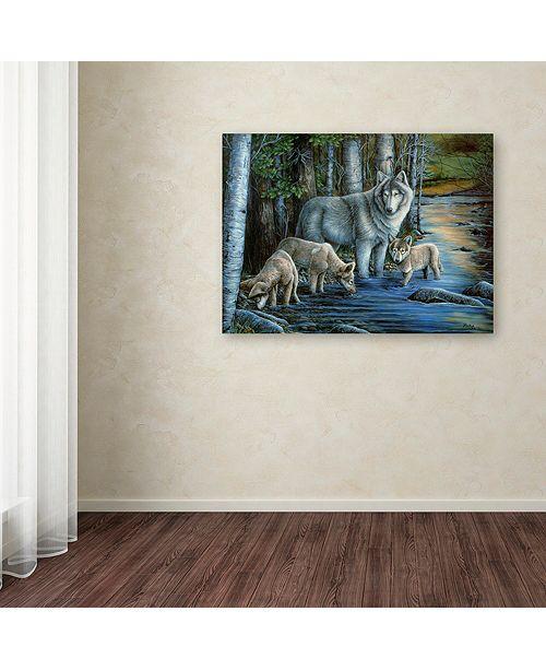 "Trademark Global Jenny Newland 'Gentle Morning' Canvas Art, 35"" x 47"""