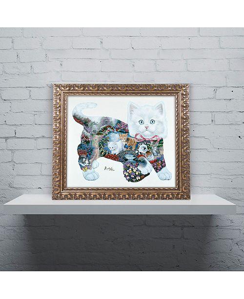 "Trademark Global Jenny Newland 'Kitten Tales' Ornate Framed Art, 16"" x 20"""