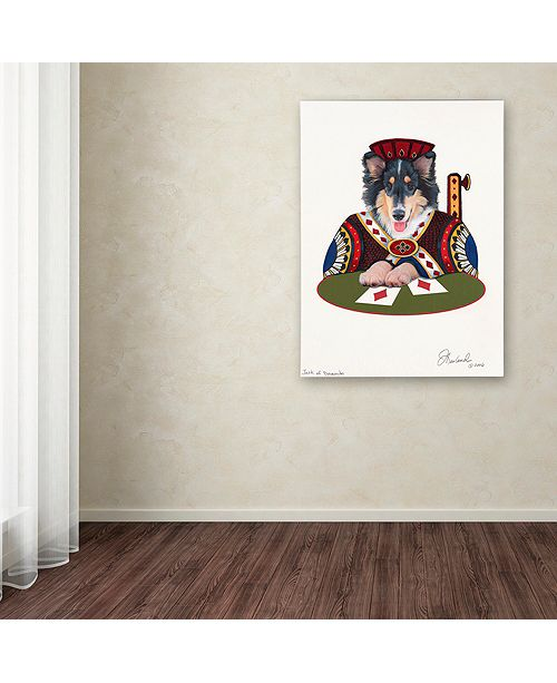 "Trademark Global Jenny Newland 'Jack Of Diamonds' Canvas Art, 18"" x 24"""