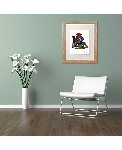 "Trademark Global Jenny Newland 'Jack Of Clubs' Matted Framed Art, 11"" x 14"""
