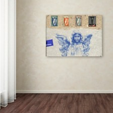 "Nick Bantock 'Blue Angel' Canvas Art, 18"" x 24"""