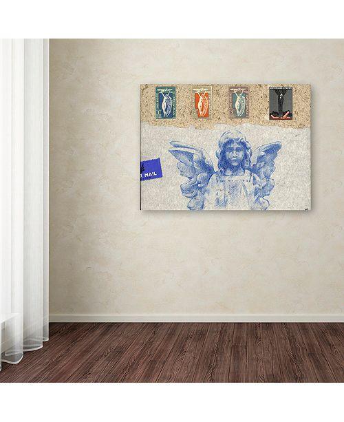 "Trademark Global Nick Bantock 'Blue Angel' Canvas Art, 18"" x 24"""