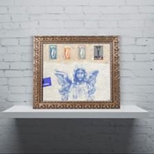"Nick Bantock 'Blue Angel' Ornate Framed Art, 16"" x 20"""