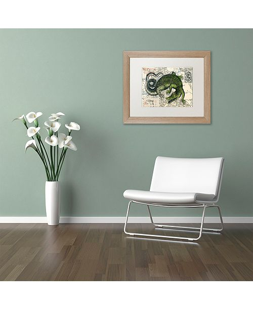 "Trademark Global Nick Bantock 'Croc Map' Matted Framed Art, 11"" x 14"""