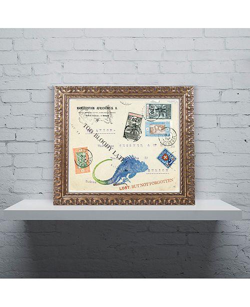"Trademark Global Nick Bantock 'Fishlizard' Ornate Framed Art, 11"" x 14"""