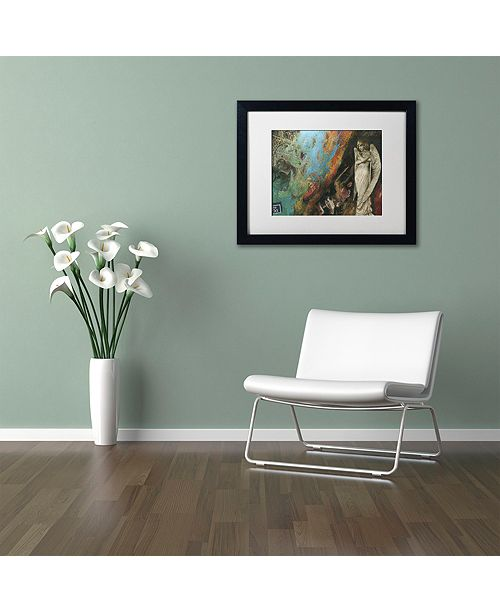 "Trademark Global Nick Bantock 'Green Angel' Matted Framed Art, 16"" x 20"""