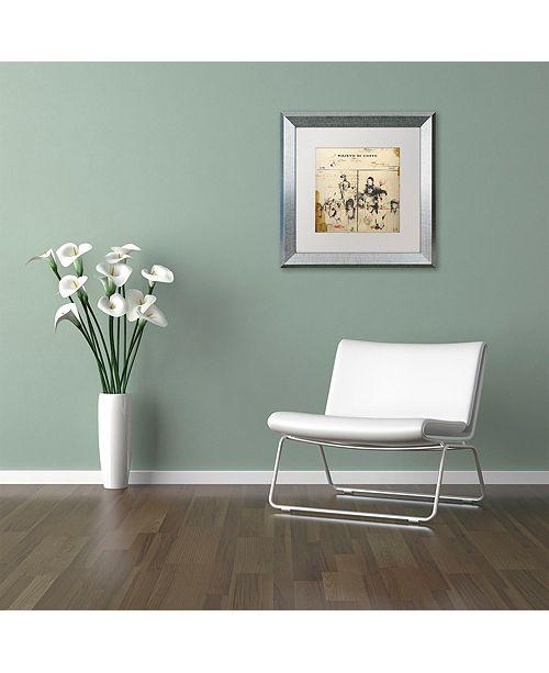 "Trademark Global Nick Bantock 'Italian Invoice' Matted Framed Art, 11"" x 11"""