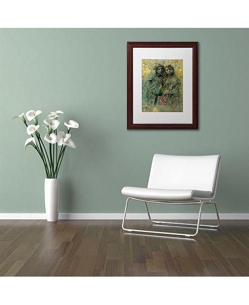 "Trademark Global Nick Bantock 'Mauresque Sisters' Matted Framed Art, 16"" x 20"""