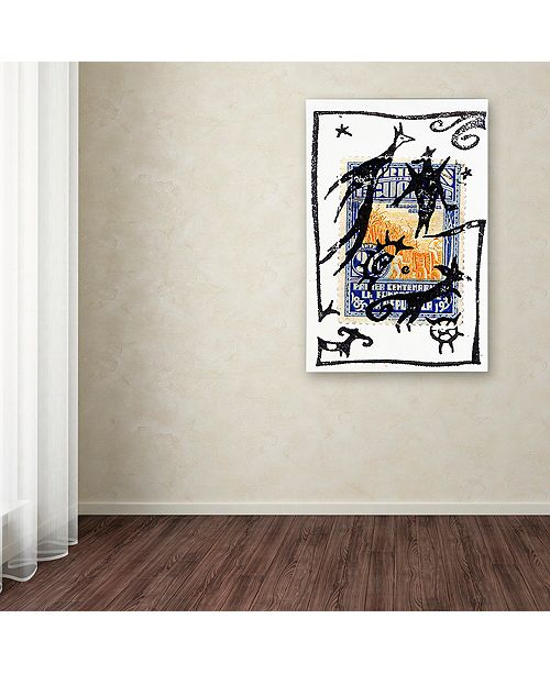 "Trademark Global Nick Bantock 'Pelicos Stamp' Canvas Art, 16"" x 24"""