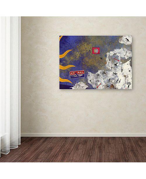 "Trademark Global Nick Bantock 'Petros' Canvas Art, 35"" x 47"""