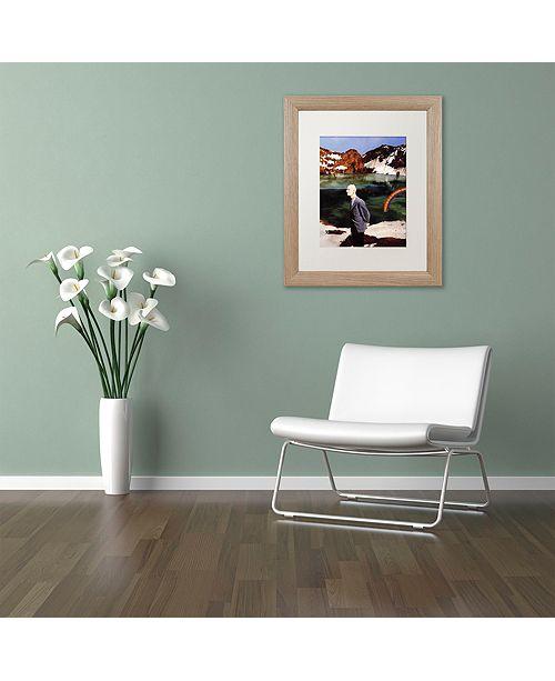 "Trademark Global Nick Bantock 'Wicklow' Matted Framed Art, 16"" x 20"""