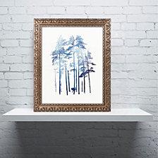Robert Farkas 'Winter Wolf' Ornate Framed Art