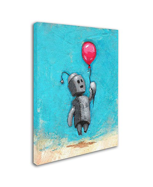 "Trademark Global Craig Snodgrass 'Robot With Red Balloon' Canvas Art, 18"" x 24"""