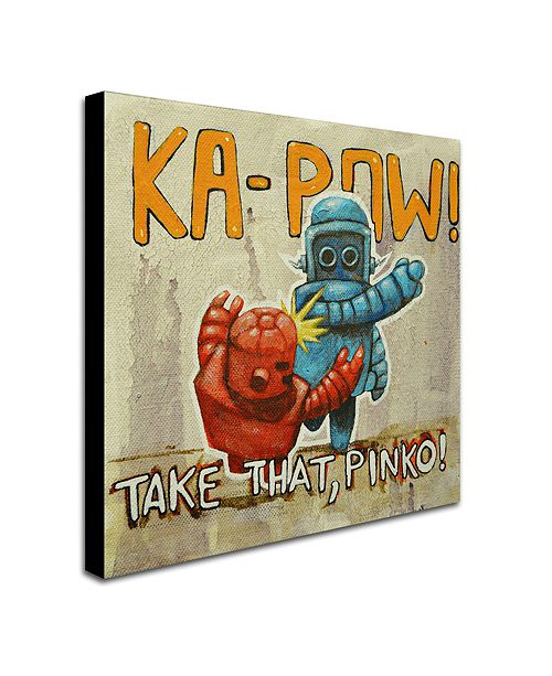 "Trademark Global Craig Snodgrass 'Take That Pinko' Canvas Art, 35"" x 35"""