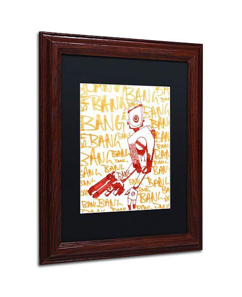 """Trademark Global Craig Snodgrass 'Bang Bang Bang' Matted Framed Art, 11"""" x 14"""""""