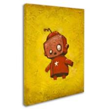 """Craig Snodgrass 'Red Robot Star' Canvas Art, 14"""" x 19"""""""