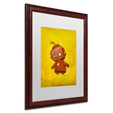 """Craig Snodgrass 'Red Robot Star' Matted Framed Art, 16"""" x 20"""""""