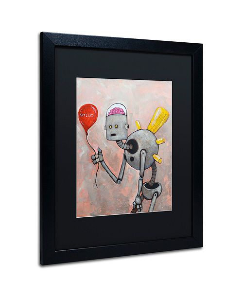 "Trademark Global Craig Snodgrass 'Smile' Matted Framed Art, 16"" x 20"""