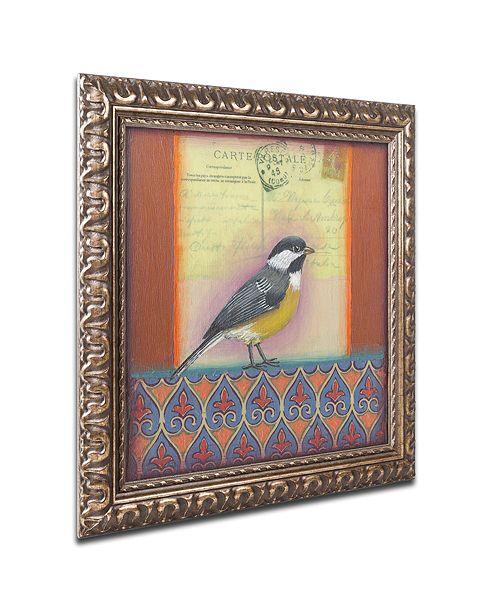 """Trademark Global Rachel Paxton 'Small Bird 208' Ornate Framed Art, 16"""" x 16"""""""