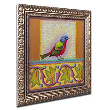 Rachel Paxton 'Painted Bunting' Ornate Framed Art