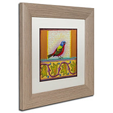 Rachel Paxton 'Painted Bunting' Matted Framed Art