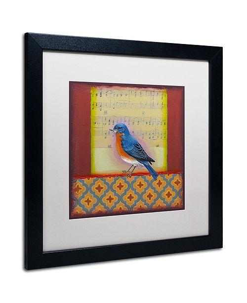 """Trademark Global Rachel Paxton 'Bluebird' Matted Framed Art, 16"""" x 16"""""""