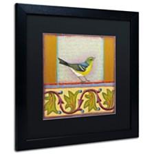"""Rachel Paxton 'Small Bird 241' Matted Framed Art, 16"""" x 16"""""""