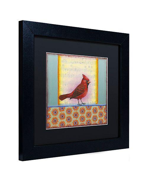"""Trademark Global Rachel Paxton 'Small Bird 227' Matted Framed Art, 11"""" x 11"""""""