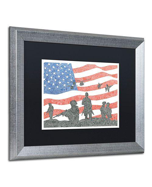 "Trademark Global Viz Art Ink 'American Heroes' Matted Framed Art, 16"" x 20"""